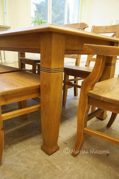 Stoły Krzesła Rustykalnia Sztuka Wnętrza